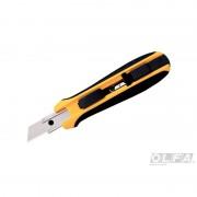 Cuchillo Industrial de 17,5 mm. con Incrustación Antideslizante y Seguro Auto Bloqueo